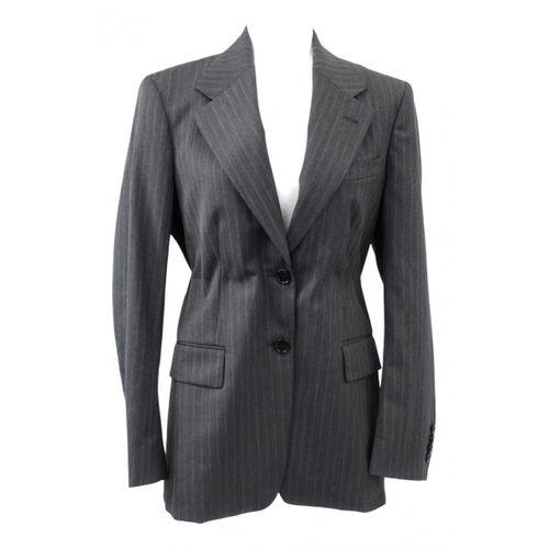 Dries Van Noten Grey Polyester Jacket