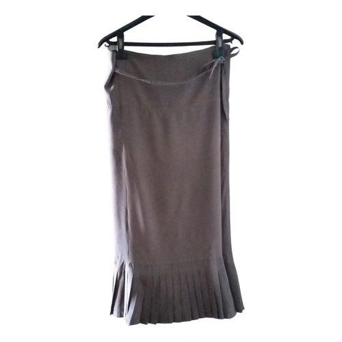 Dries Van Noten Silk maxi skirt
