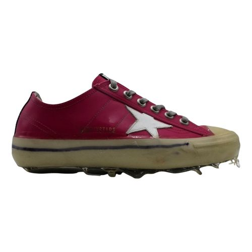 Golden Goose V-Star leather trainers