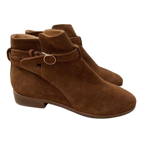 Sézane Leather buckled boots