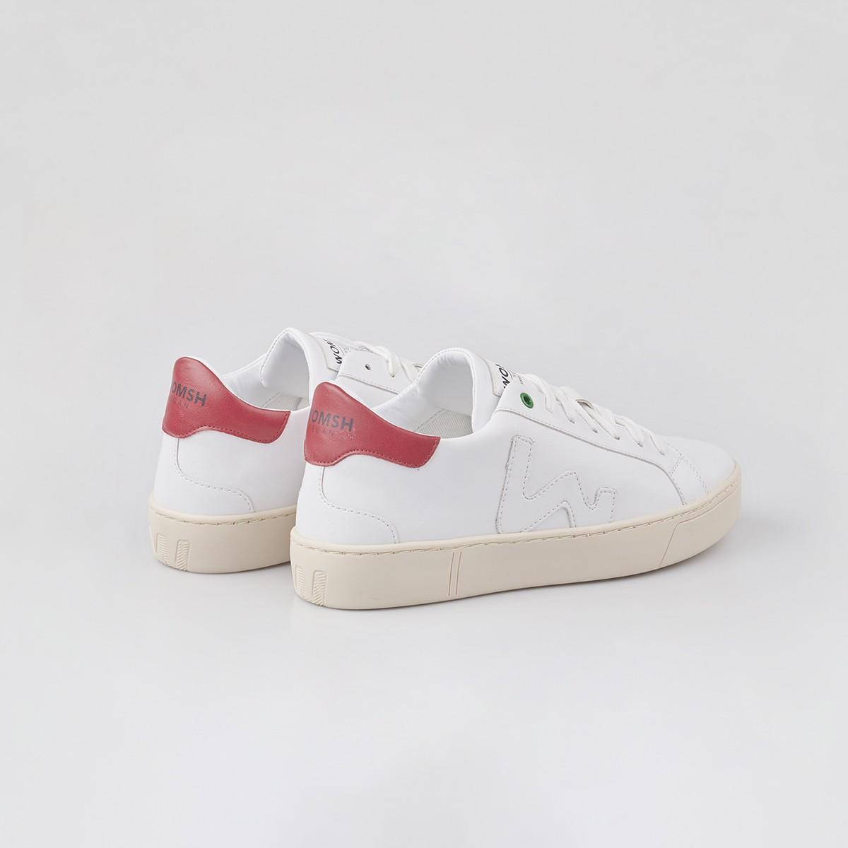Womsh VEGAN SNIK WHITE RED / UNISEX
