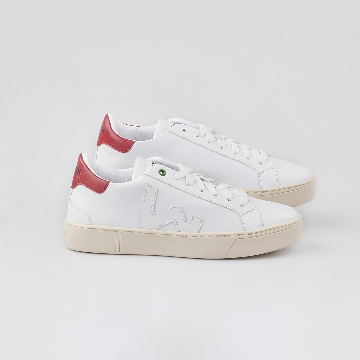VEGAN SNIK WHITE RED / UNISEX