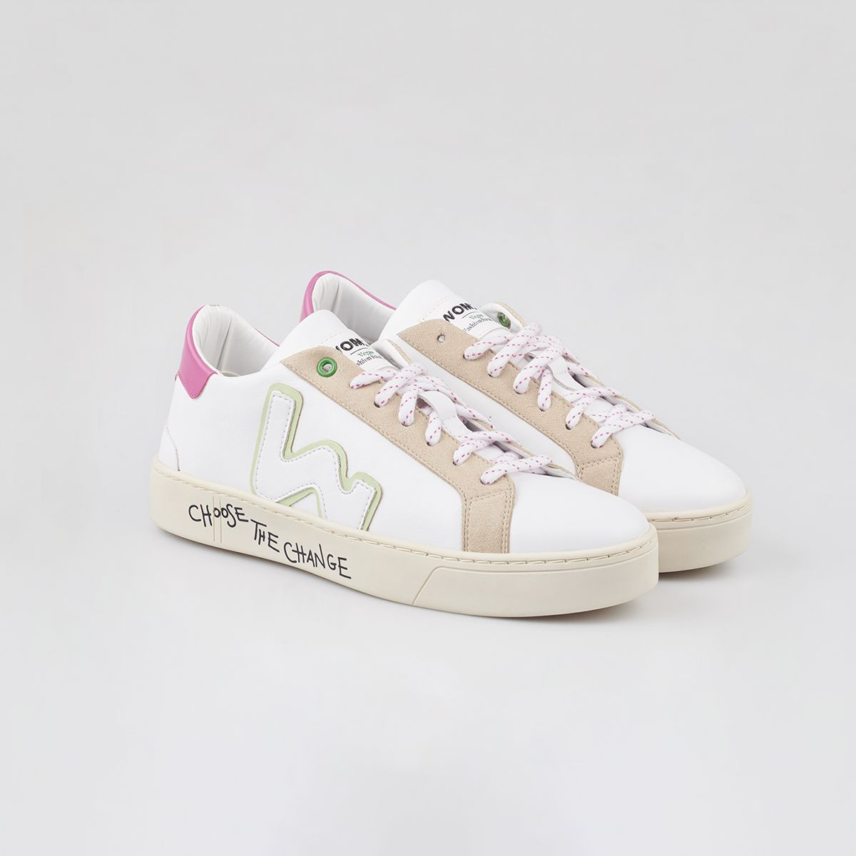 VEGAN SNIK WHITE PINKY / WOMAN