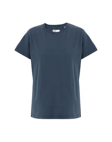 Colorful Standard Women T-shirt Slate blue S INT