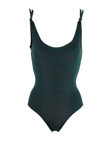Isole & Vulcani Women One-piece swimsuit Dark green M INT