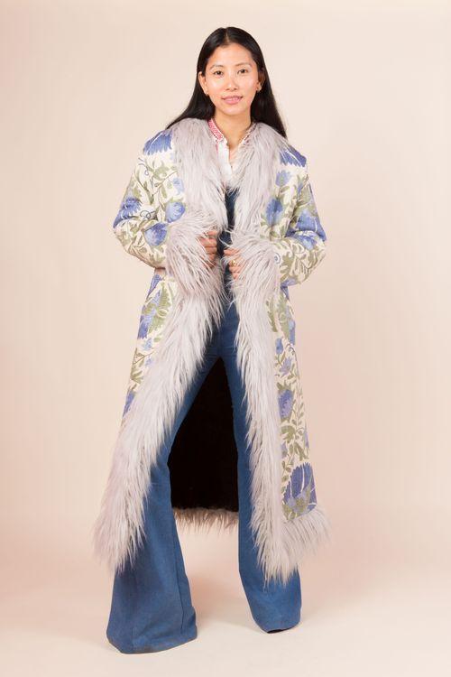 Long suzani coat