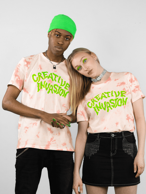 CREATIVE INVASION Print T-Shirt